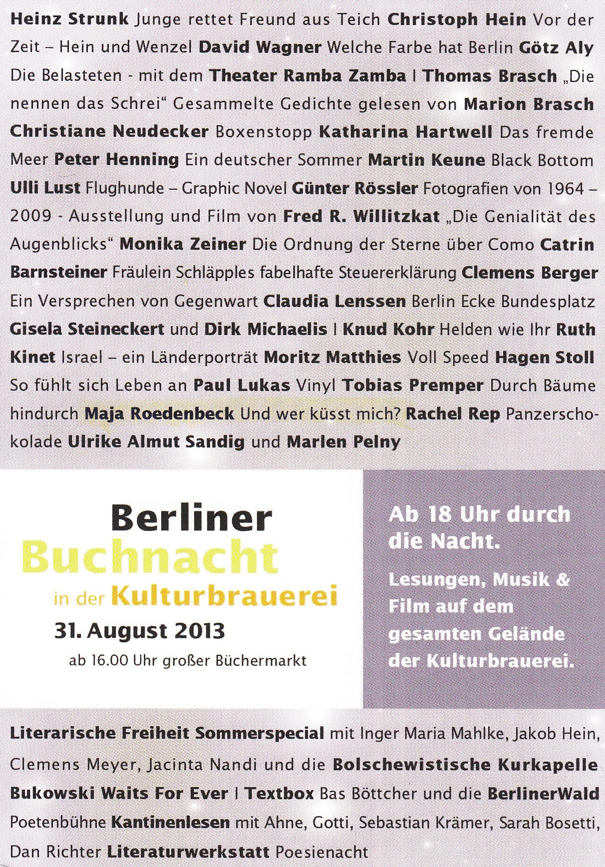 Berliner Buchnacht 2